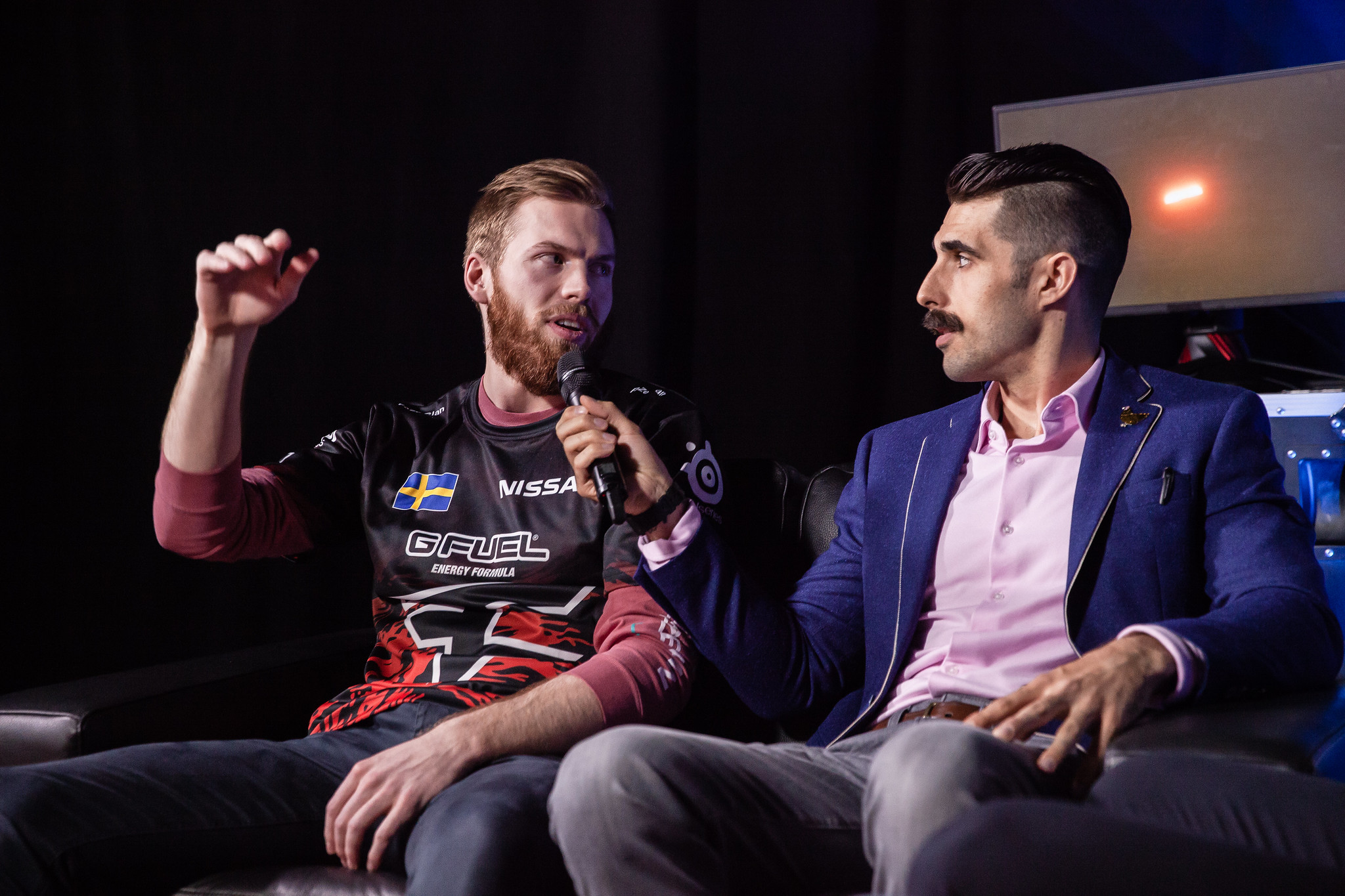 FaZe Fuzzface being interviewed