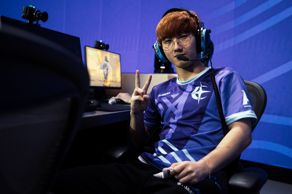 Jjonak and the Atlantic Division team took their second All-Stars win. (Photo courtesy of Blizzard)