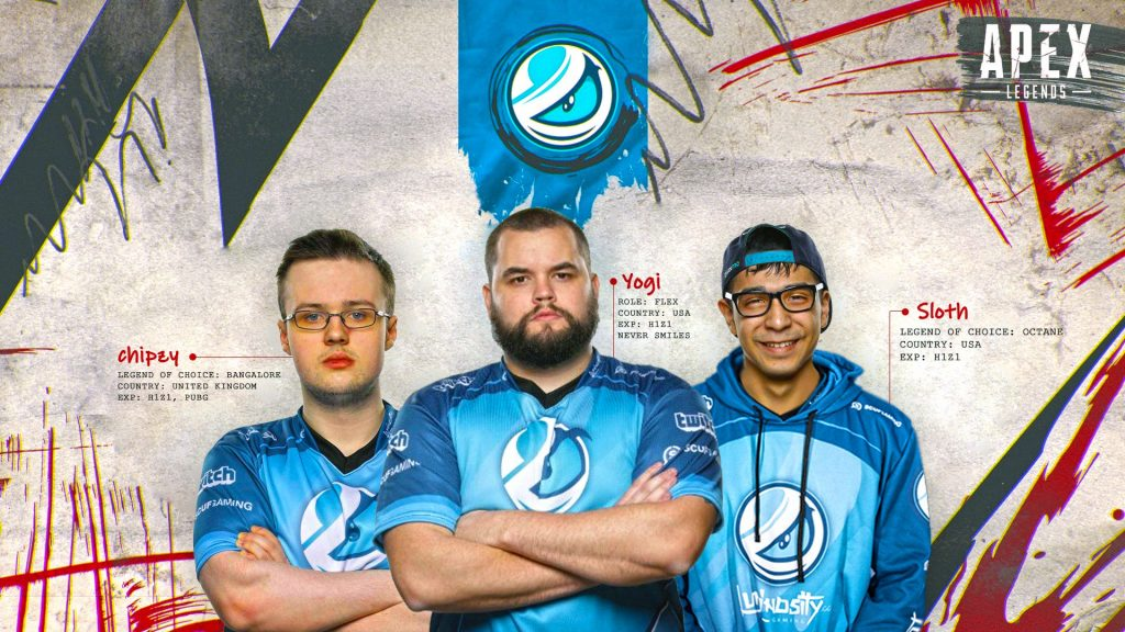 Luminosity enters Apex Legends with Chipzy, Yogi and, Sloth. (Image courtesy of Luminosity)