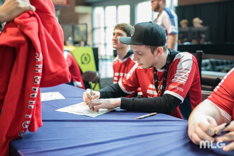 Prestinni of eUnited at the signing booth