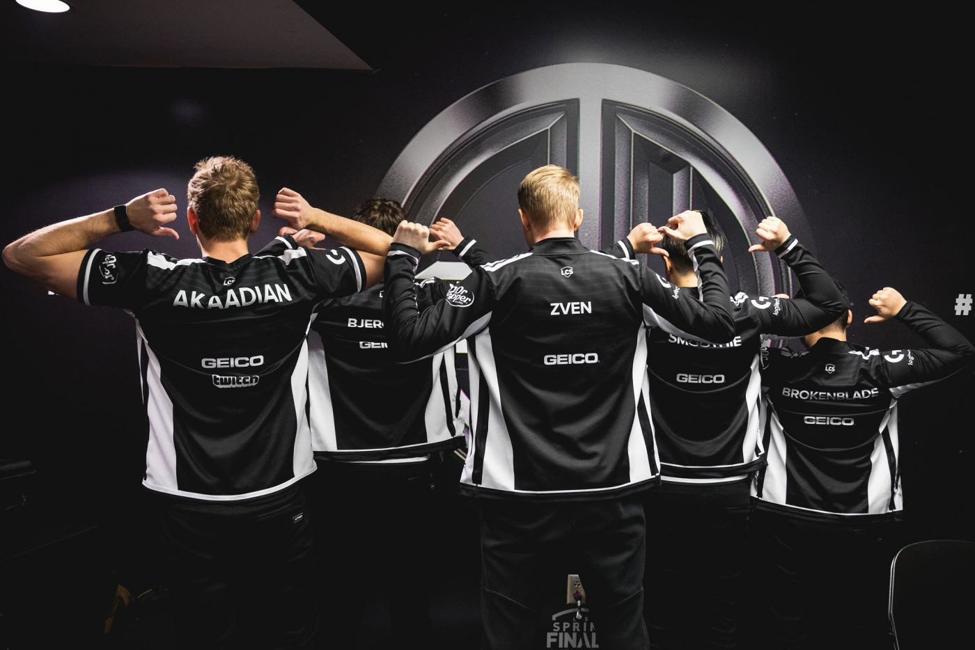 LCS team TSM pose with their new jerseys