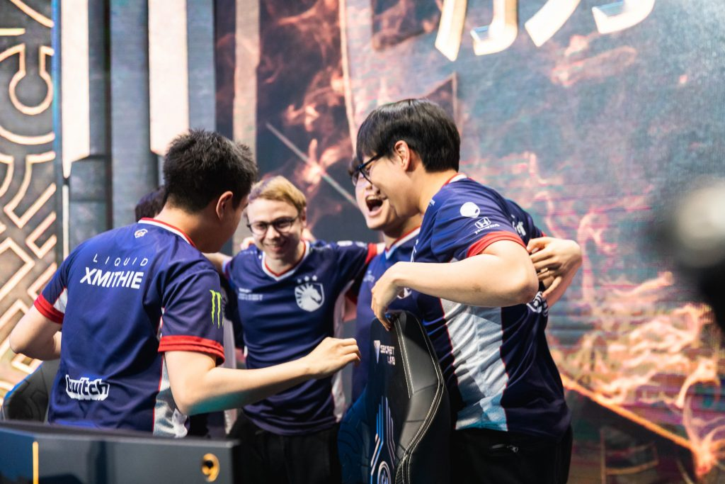 Team Liquid have progressed to the Mid-Season Invitational grand final after a 3-1 victory over tournament favorites and defending world champions Invictus Gaming. (Photo by Colin Young-Wolff/Riot Games)