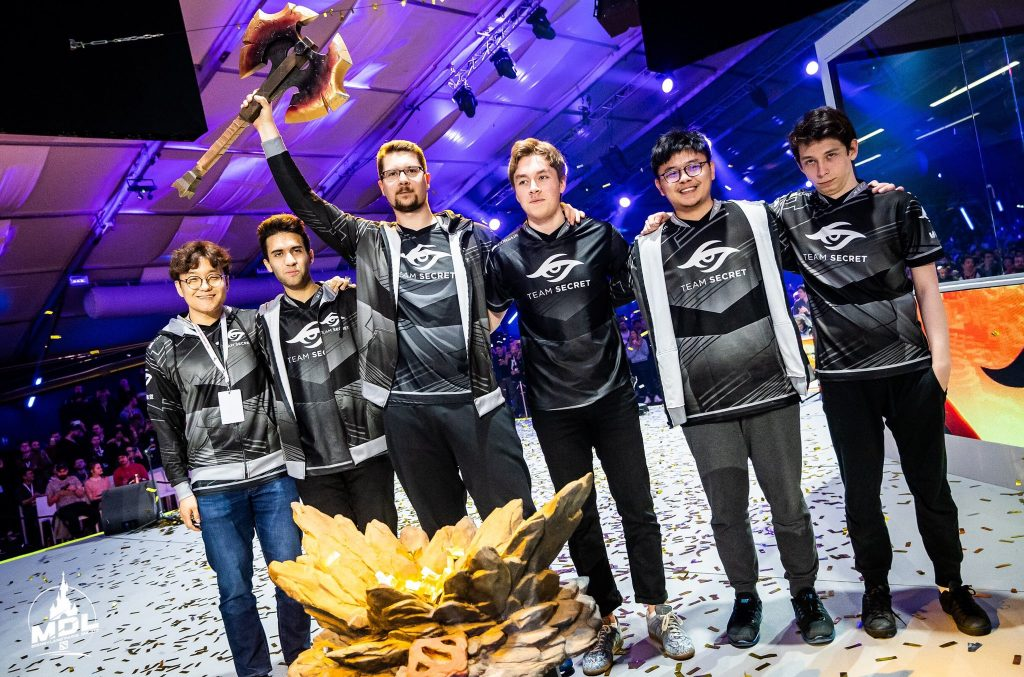 Team Secret take first place at the MDL Disneyland® Paris Major, securing first place in the DPC rankings. (Photo courtesy of Mars Media)