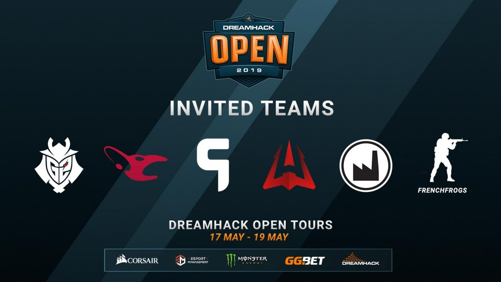 DreamHack announced six direct invites to the DreamHack Open Tours CS:GO tournament later this month. (Image courtesy of DreamHack)