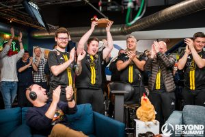 Vitality was the first-place CS:GO team at the entertaining cs_summit 4. (Image courtesy of Beyond the Summit| Photography by Todd Gutierrez)