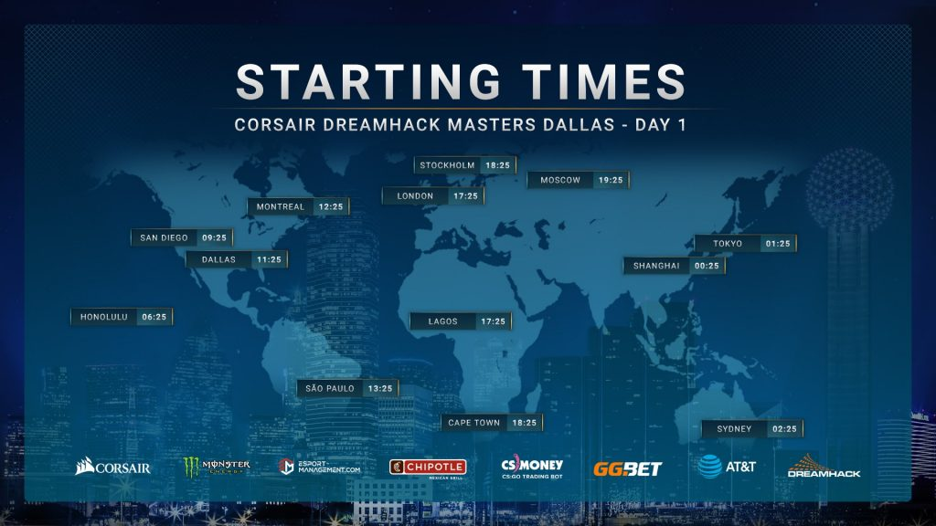DreamHack Masters Dallas 2019 kicks off on May 28. (Image courtesy of DreamHack)