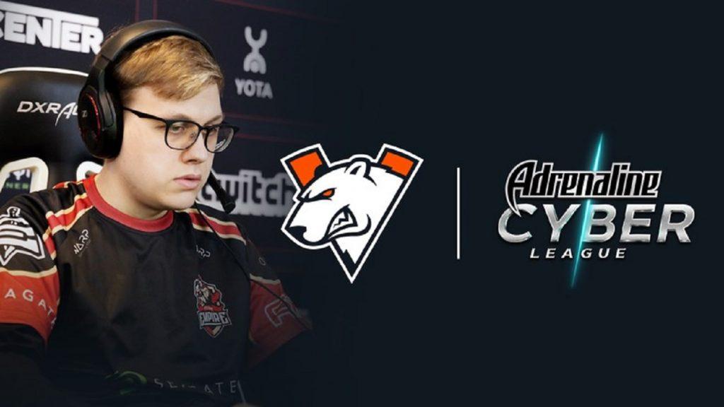 "Rostislav ""fn"" Lozovoi will play with Virtus.pro at Adrenaline Cyber League 2019. (Image courtesy of Virtus.pro)"