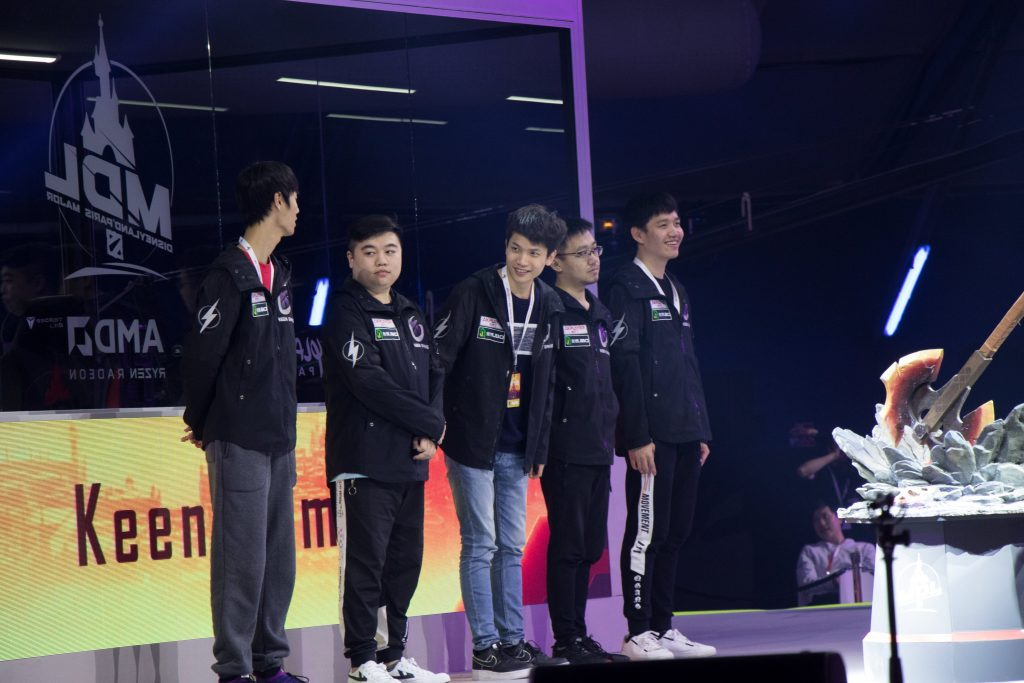 "There'll be no ""Sword in the Stone"" moment for Keen Gaming, who were eliminated today at the MDL Disneyland® Paris Major. (Image via @Keen_GamingCN / Twitter)"