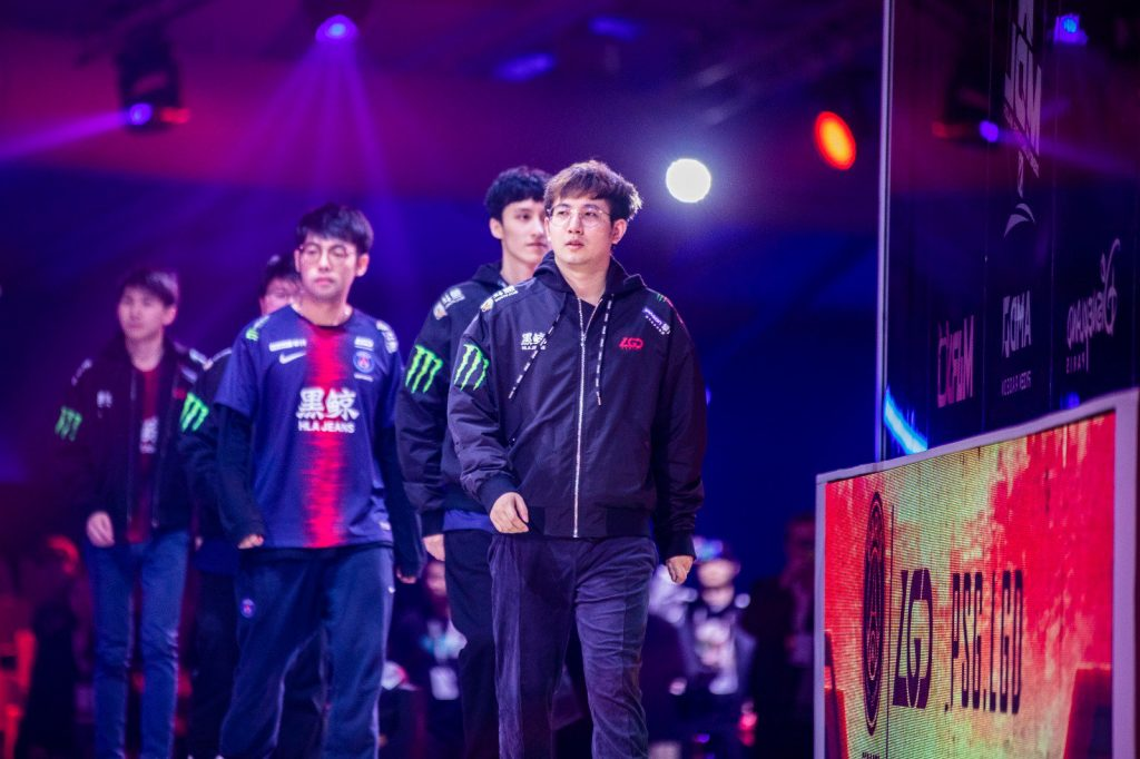 PSG.LGD go home after an impressive series versus Team Liquid at the MDL Disneyland® Paris Major. (Image courtesy of PSG.LGD)
