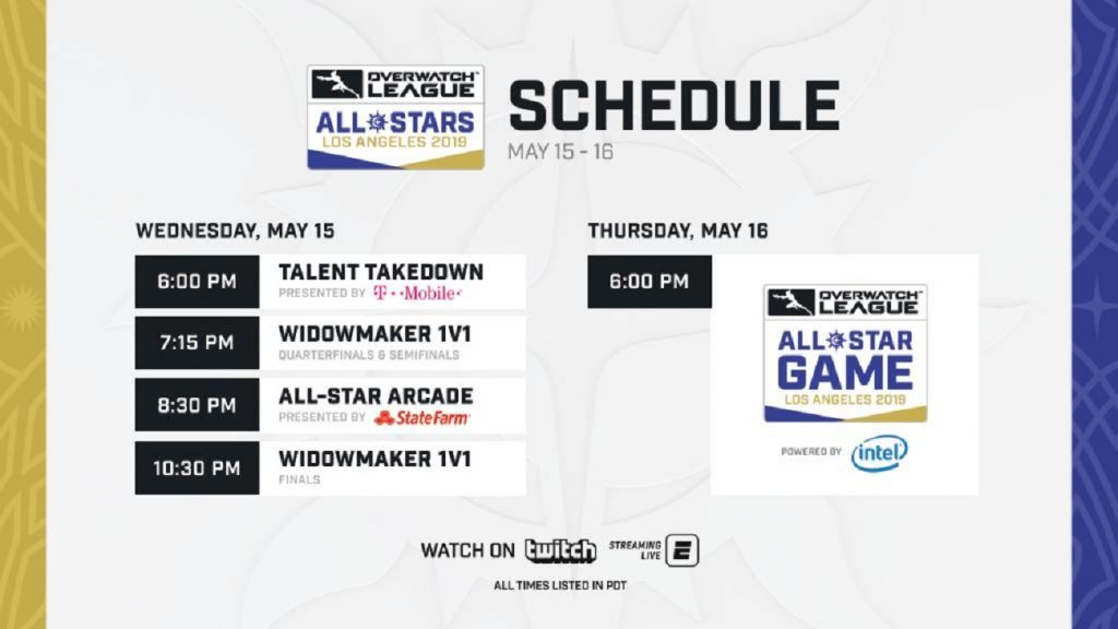 The Overwatch League All-Stars Los Angeles 2019 kicks off on May 15. (Image courtesy of Blizzard)