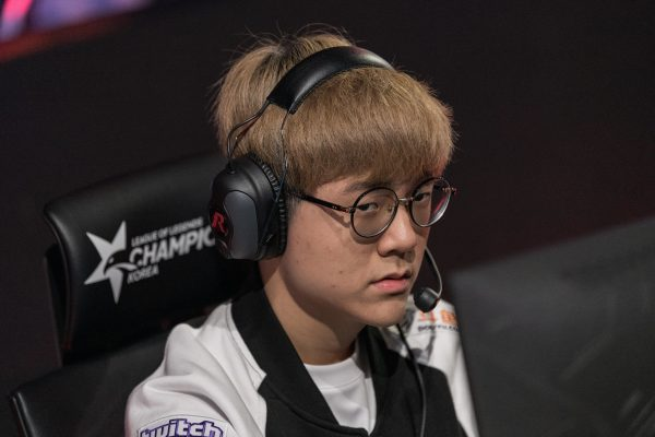 SK Telecom T1?s bot laner Park ?Teddy? Jin-seong has been a shining light in what has been a poor start for the defending champions in LCK 2019 Summer. Image via Riot Korea.