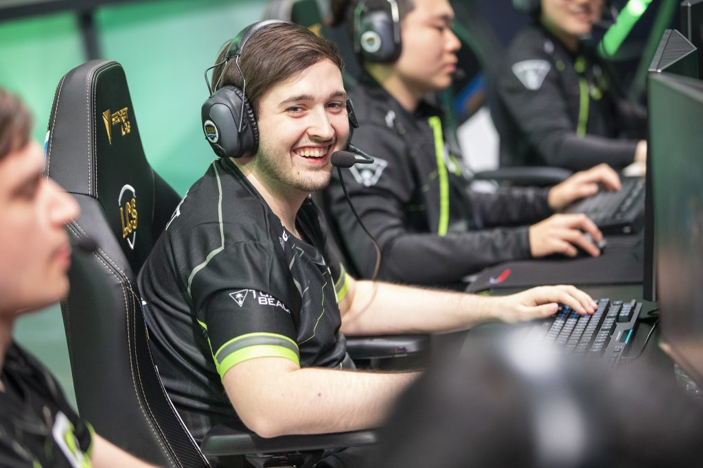 "Marcel ""Scarlet"" Wiederhofer joins OpTic Gaming during the 2019 League of Legends Championship Series Week 4. (Photo by Colin Young-Wolff/Riot Games)"