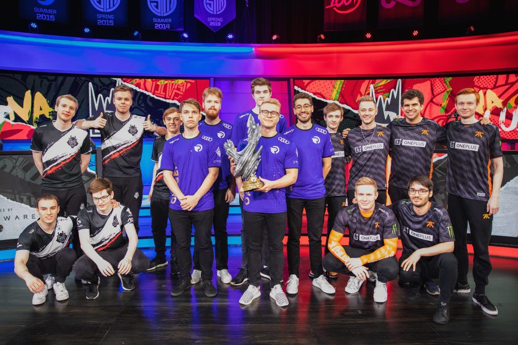 Rift Rivals 2019 winners: Europe. (Photo by Shannon Cottrell/Riot Games)