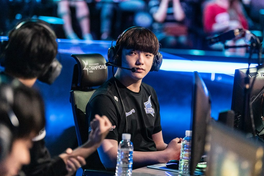 "Lee ""Dread"" Jin-hyeok has been the lynchpin of Afreeca Freecs' 3-1 start in Summer. His performances have already earned him 400 MVP points in just 11 games. (Image via Riot Korea.)"