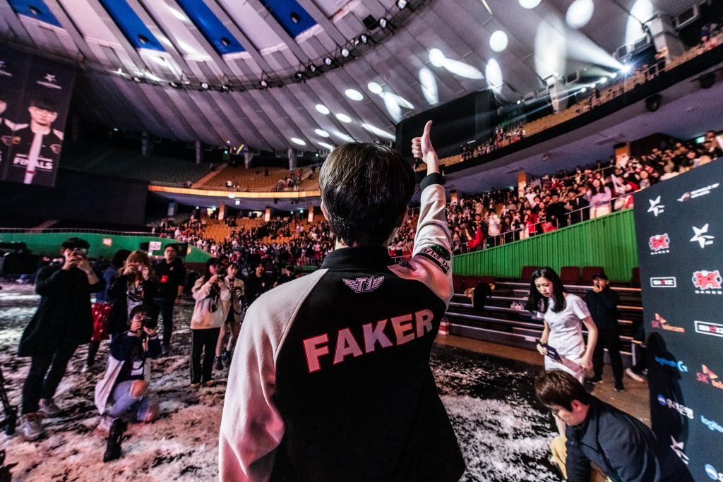 "Sang-hyeok ""Faker"" Lee and SK Telecom T1 return to the LCK as defending champions. For Faker, it's the seventh time he's had to defend his Korean throne, and perhaps this season will be the hardest yet. Image via Riot Games."