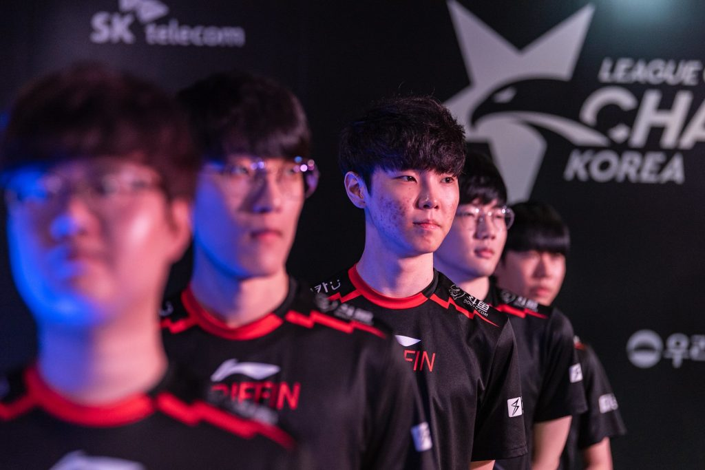 Griffin sits atop the standings in Korea after the opening three weeks. Image via Riot Korea.