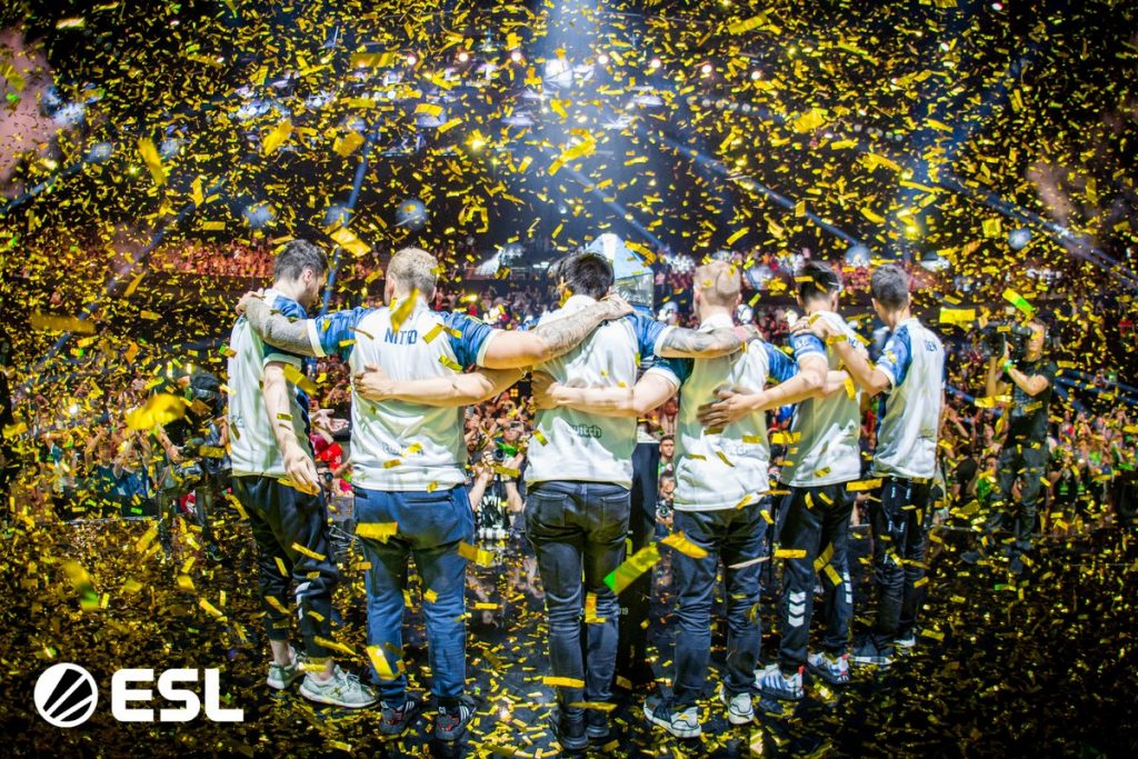 Team Liquid ousted French hopefuls G2 Esports to claim the Pro League Season 9. trophy in Montpellier. (Image via ESL.)