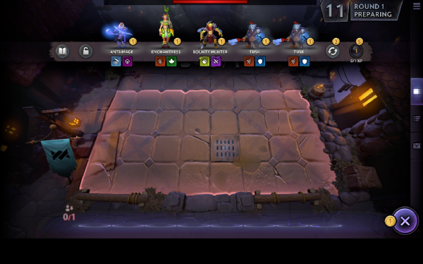 Screencap from Dota 2 Underlords.