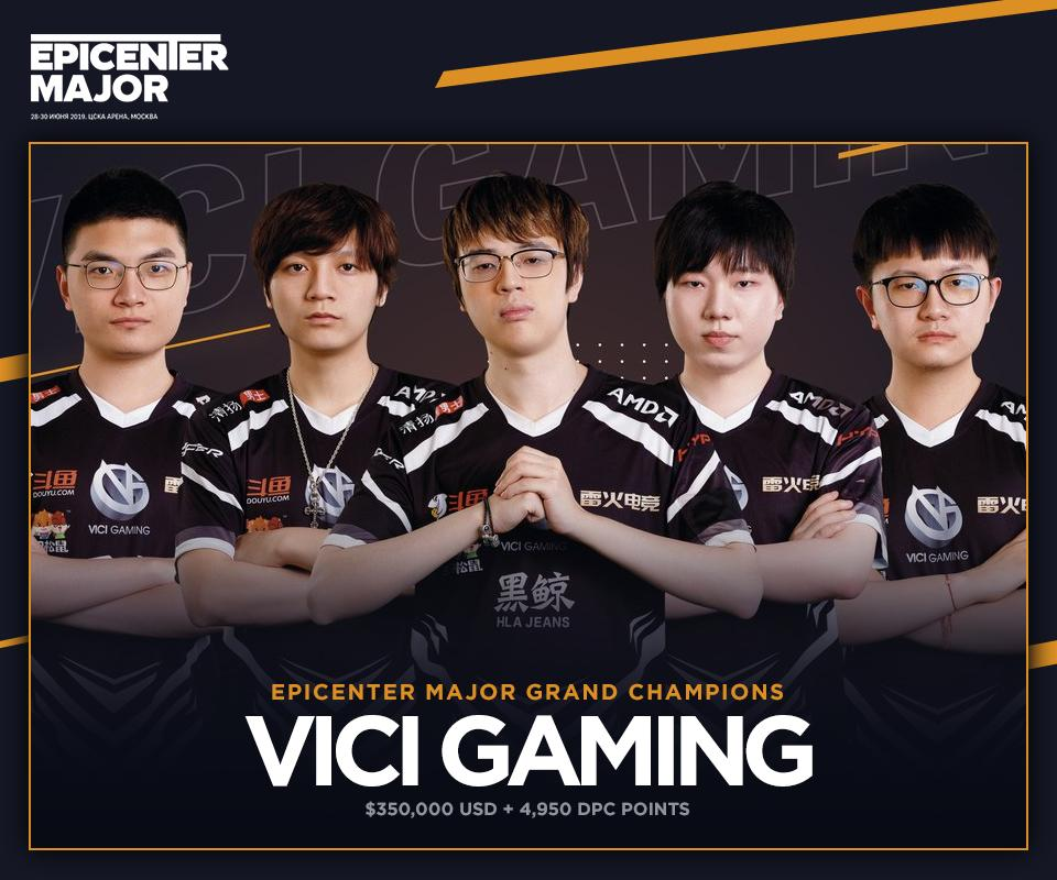 Vici Gaming win the EPICENTER Major in a stunning 3-2 victory over Team Liquid. (Image via EPICENTER)