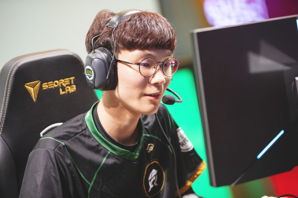 "Wadid is back to ""enjoying League of Legends again"" thanks to FlyQuest's backroom positivity. (Photo by Colin Young-Wolff/Riot Games)"