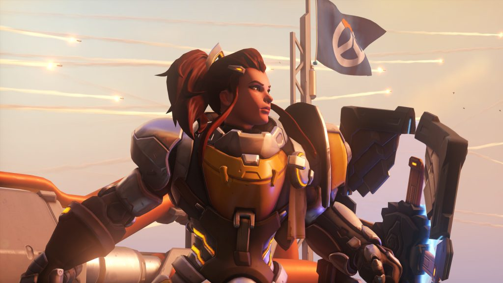 Brigitte is a popular component in the current GOATS meta. (Image via Blizzard)