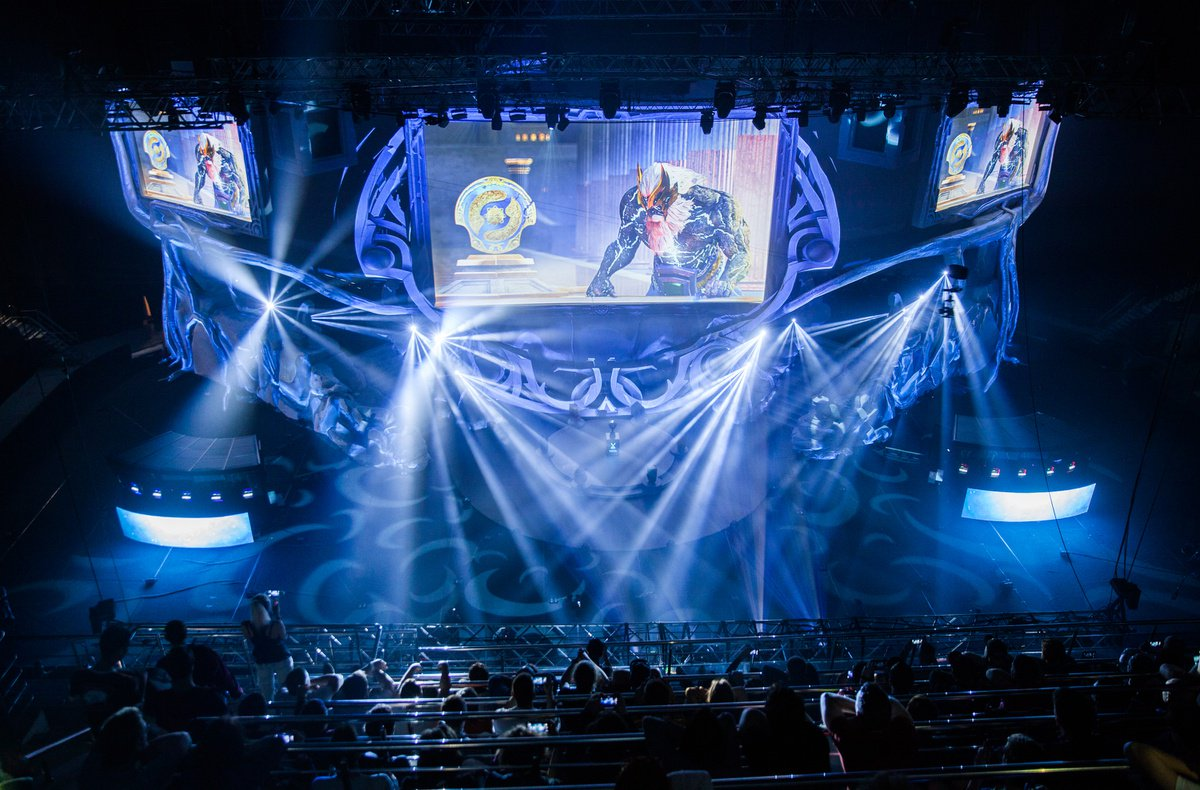 Dota 2 stage and crowd