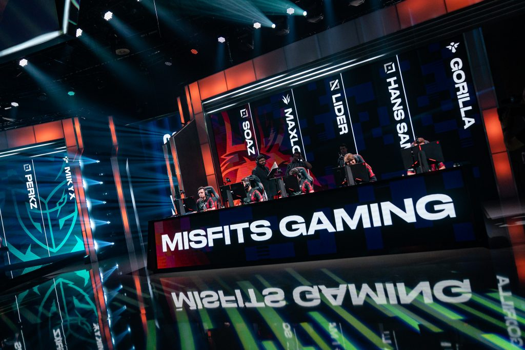 Misfits Gaming's entire LEC roster has been swapped for their Academy roster. (Image courtesy of Riot Games)