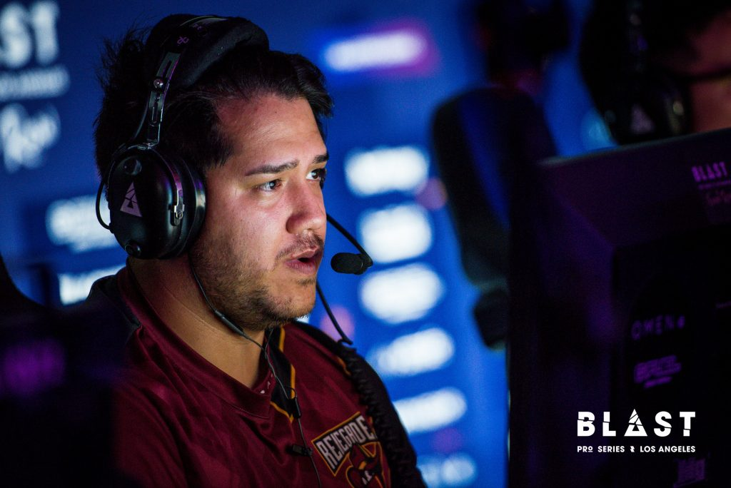 "Hotspawn spoke with Renegades' Aaron ""AZR"" Ward about the team. (Image via BLAST Pro)"