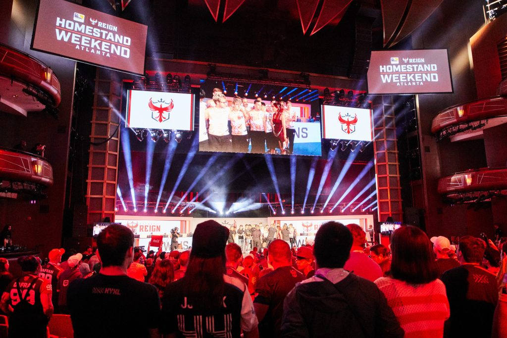 The Atlanta Reign won their first home game during the OWL's Atlanta Homestand Weekend. (Image via Blizzard)