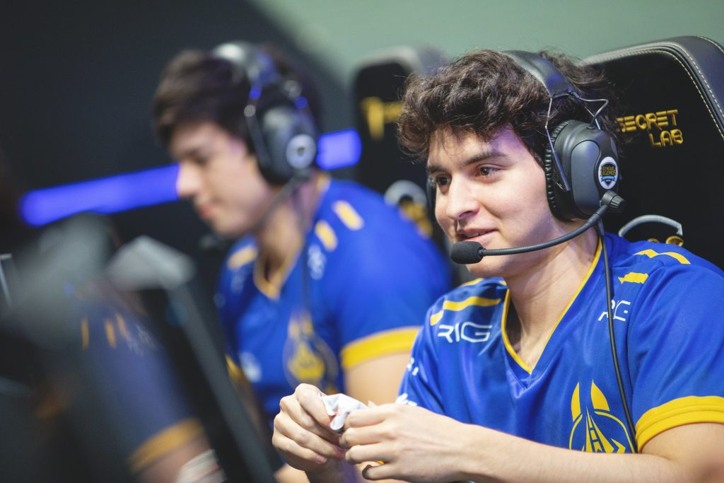 """Juan """"Contractz"""" Garcia believes friendship off the Rift is boosting the Golden Guardians in Summer. (Photo by Colin Young-Wolff/Riot Games)"""