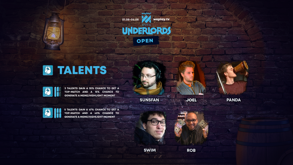 For the WePlay! Dota Underlords Open, Joel Larsson will cross the desk to cast rather than compete. (Image courtesy of WePlay!)