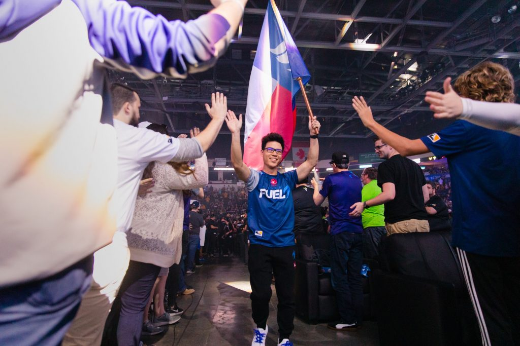Dallas Fuel's Mickie during the Homestand weekend. (Image via Dallas Fuel)