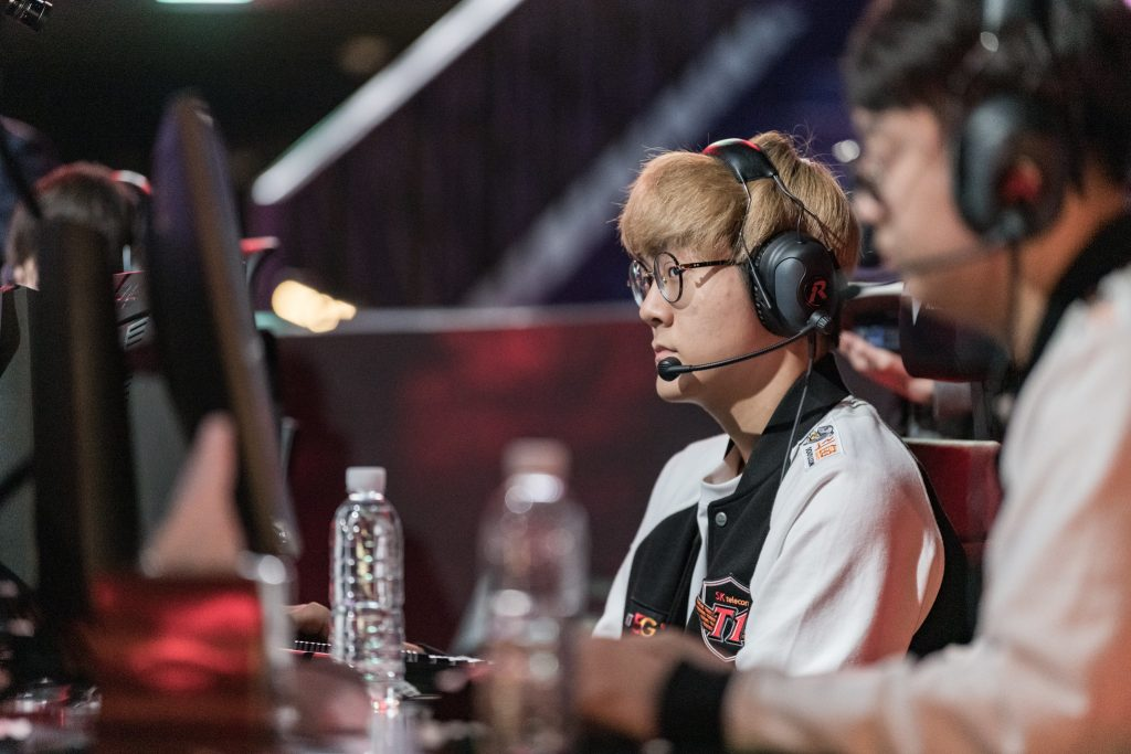 "Park ""Teddy"" Jin-seong was a key carry for SKT as they scored a 2-0 win in a lacklustre Telecom War. Image via Riot Korea."