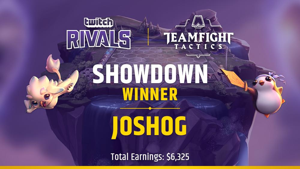 The Twitch Rivals TFT Showdown concluded with JoshOG taking home the lion's share of prize money. (Image via Twitch Esports / Twitter)