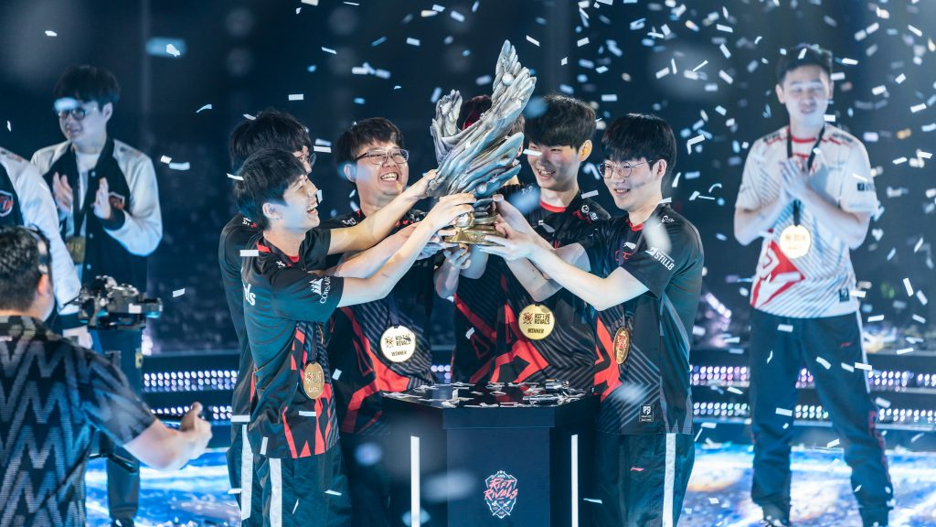 Korea stormed to a 7-1 group stage record en route to a Rift Rivals victory. (Photo courtesy of Riot Games)