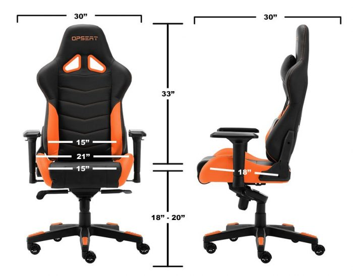 OPSeat Gaming Chair dimensions