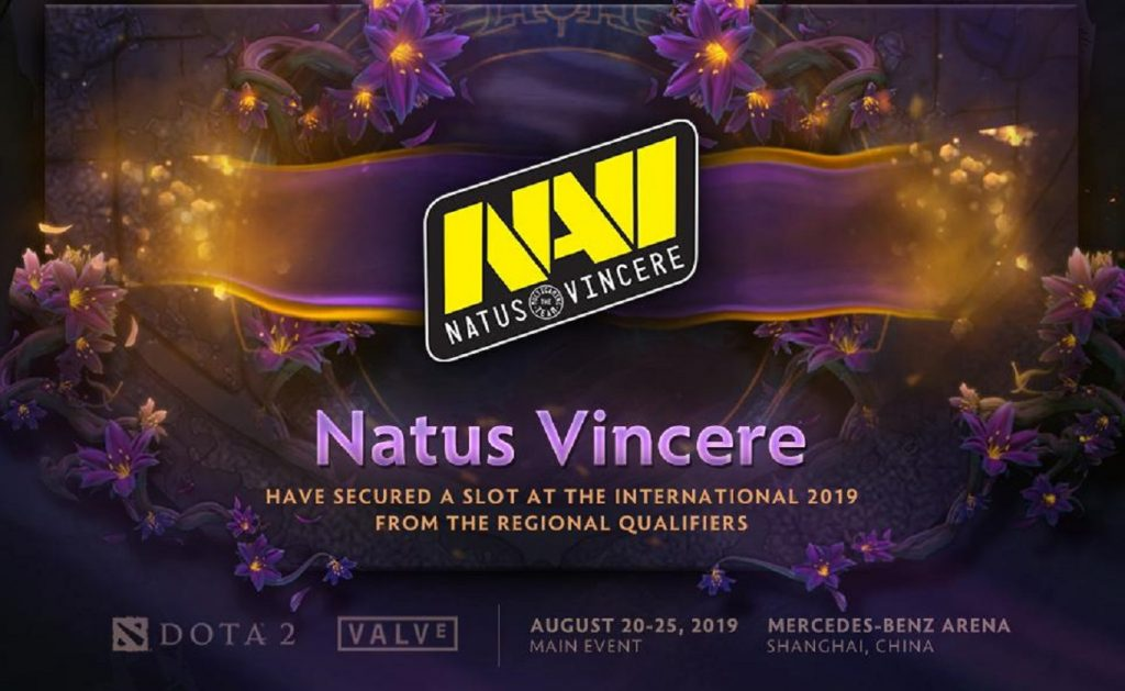 Natus Vincere claimed the CIS Qualifier spot for The International 2019. (Image via @wykrhm / Twitter)