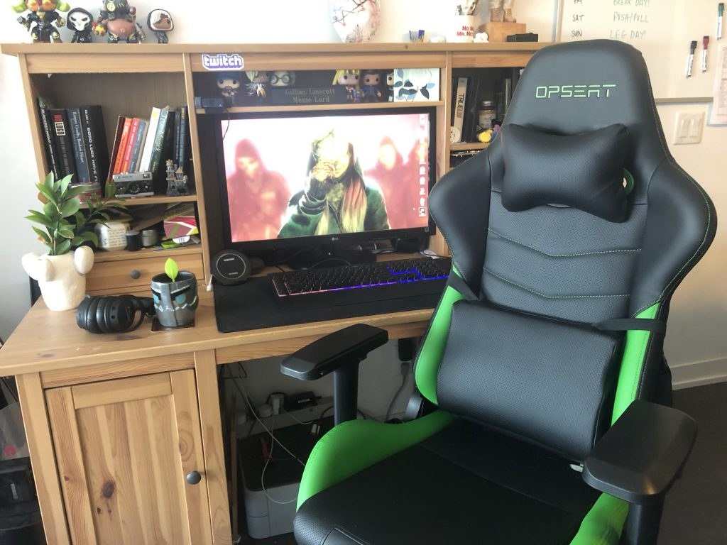 The OPSEAT Master Gaming Chair proves to be a very comfortable option. (Image via Gillian Linscott)