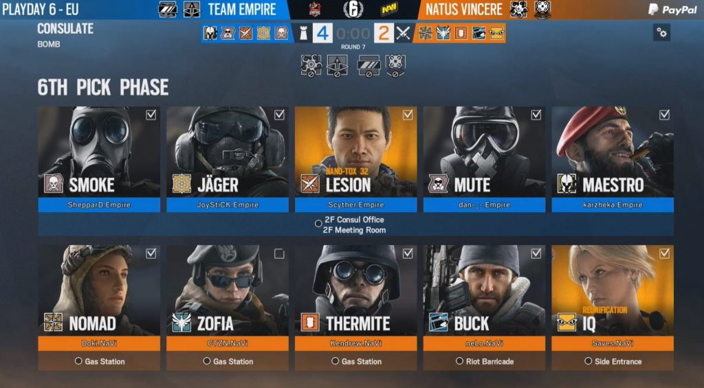 With some good play and a timely loss by LFO, Team Empire take the top spot in the Rainbow Six EU Pro League standings.