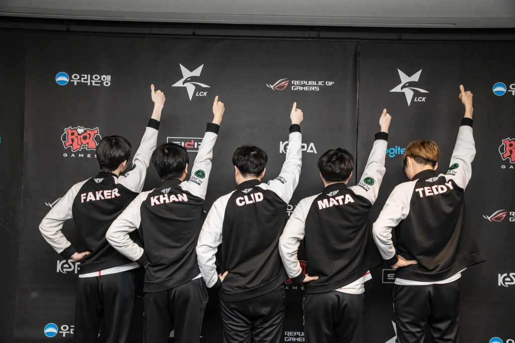 SK Telecom T1 during LCK Summer Playoffs 2019