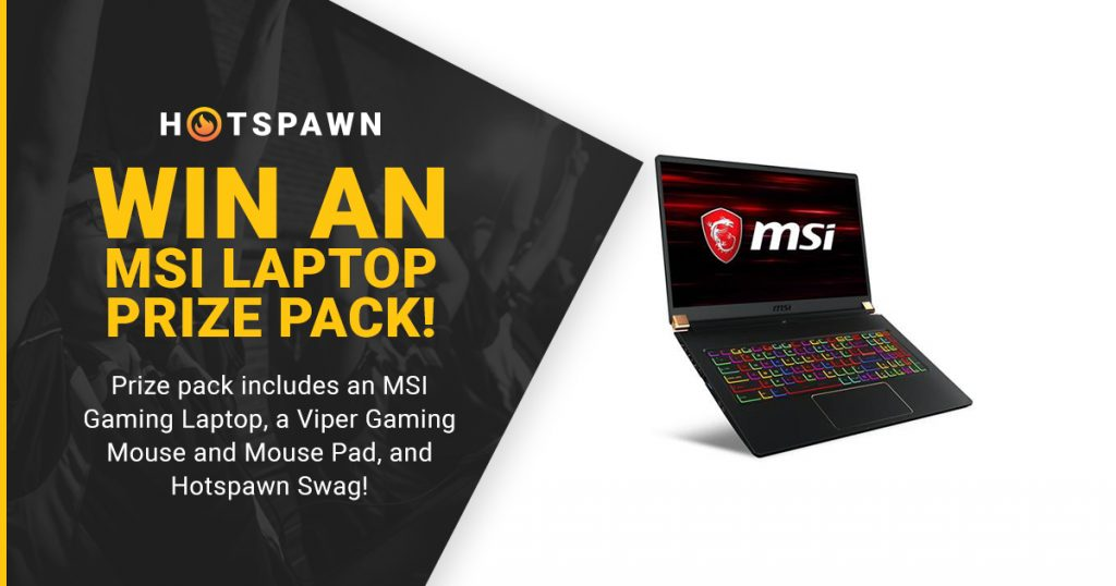 Sick of your old, run down gaming setup? Hotspawn is here to help, as we are giving away a new MSI gaming laptop.