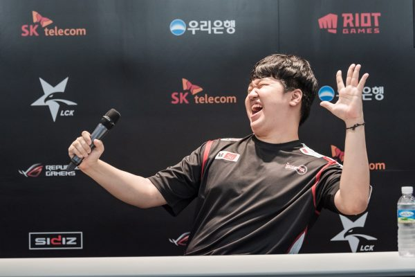 PraY is hoping he can smile again as KT Rolster looks to avoid relegation. Image via Riot Korea.