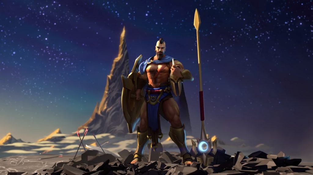 Pantheon, a hero in League of Legends, has been reworked by Riot Games. (Image via Riot Games)