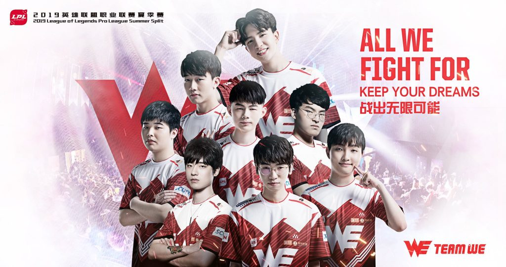 Could Team WE move up the ladder late in the LPL Summer 2019 Season? (Image via Team WE)