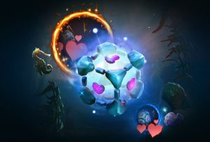 Non-traditional hero picks are one of the bonuses of experimentation during the TI9 group stage. (Image via Valve)