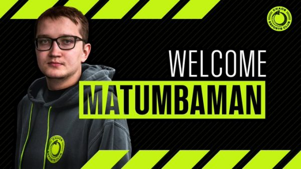 MATUMBAMAN?s ?swap? to Chaos EC was last piece of the puzzle. (Image via Chaos Esports Club)