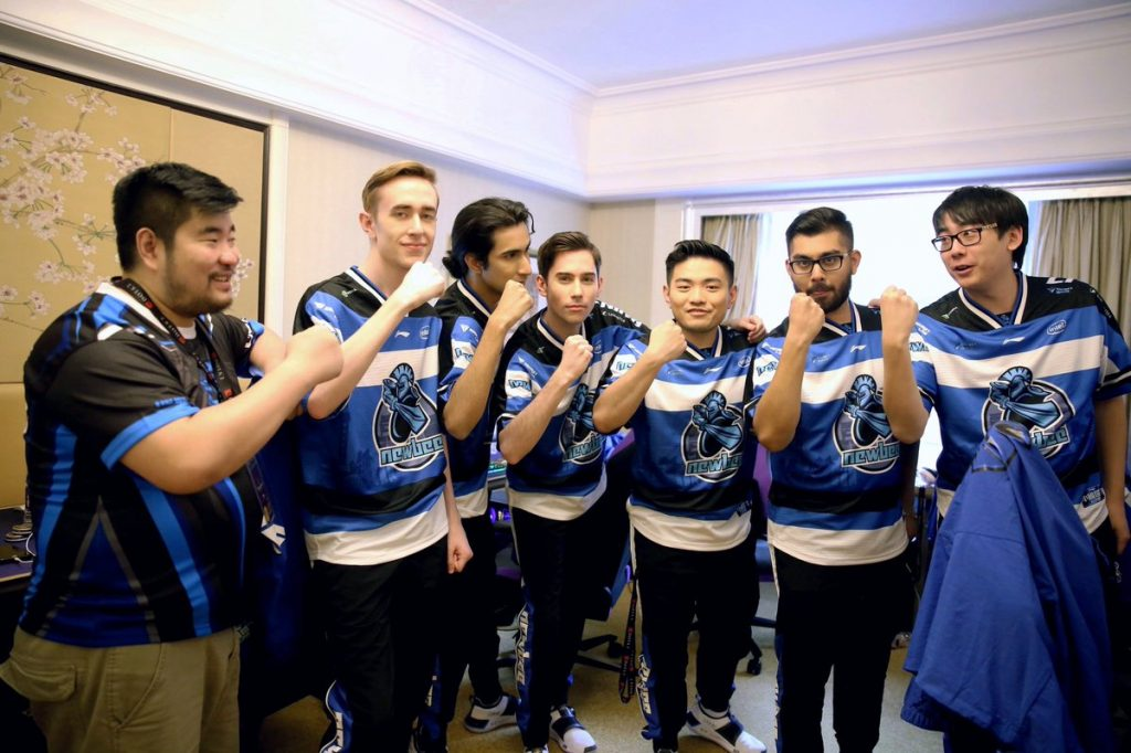 Newbee secured third place in TI9 Group A after a draw with Mineski. (Image via Newbee)
