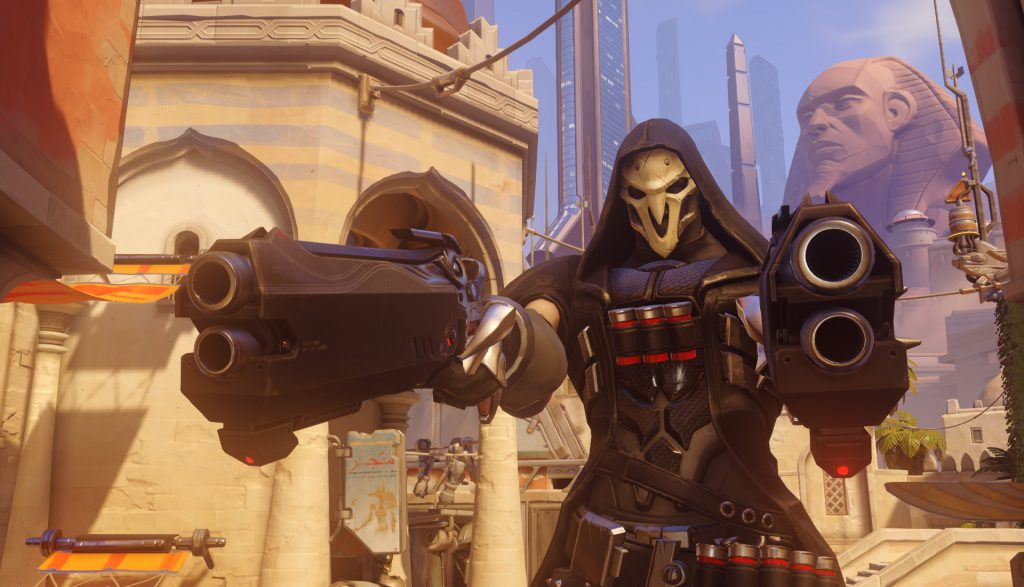 Three heroes have gotten a big boost in playtime with the Overwatch League 2-2-2 role lock, including Reaper. (Imave via Blizzard)