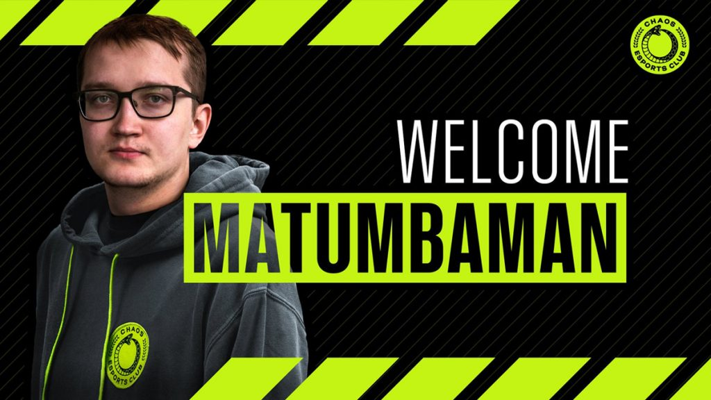Dota fans should be excited for MATUMBAMAN's grudge match against Team Liquid at TI9 (Image courtesy of Chaos Esports Club)