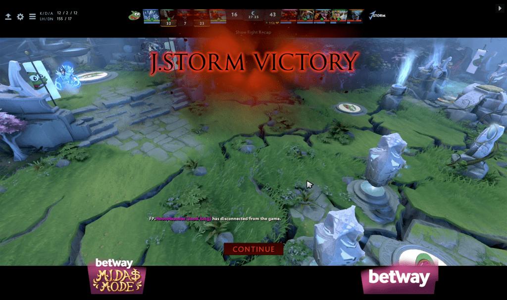 J.Storm victory dota